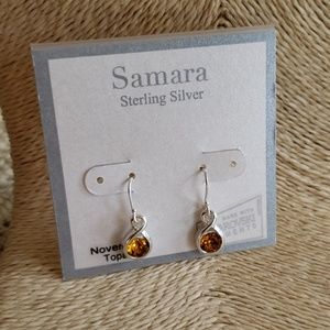 Sterling Silver Swarovski Topaz November Earrings